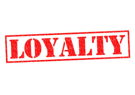 disloyal: LOYALTY red Rubber Stamp over a white background.