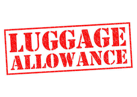 allowance: LUGGAGE ALLOWANCE red Rubber Stamp over a white background.