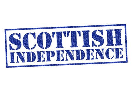 SCOTTISH INDEPENDENCE red Rubber Stamp over a white background. photo