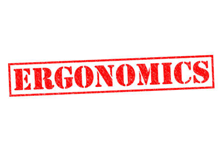 ergonomics: ERGONOMICS red Rubber Stamp over a white background.