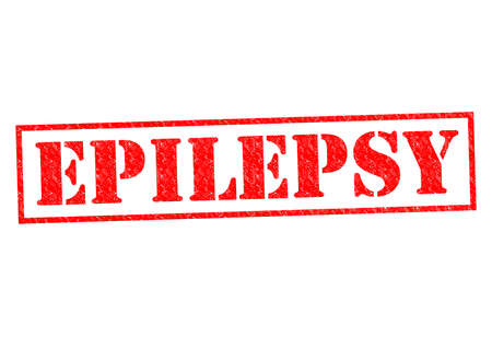 psychosocial: EPILEPSY red Rubber Stamp over a white background.