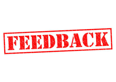 rebuttal: FEEDBACK red Rubber stamp over a white background.