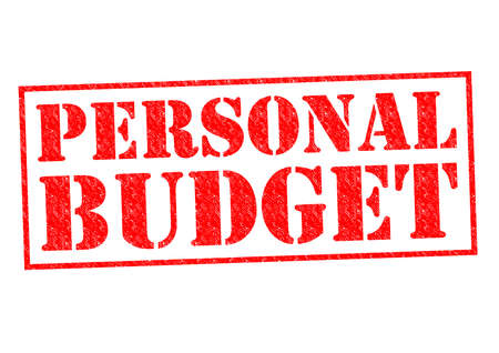 deficit target: PERSONAL BUDGET red Rubber Stamp over a white background.