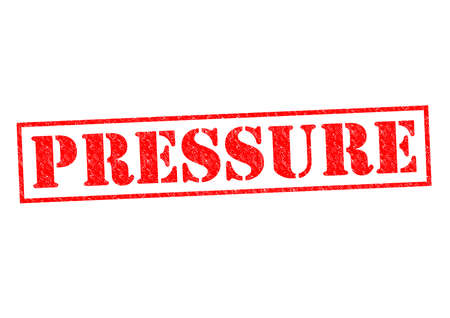 heaviness: PRESSURE red Rubber Stamp over a white background.