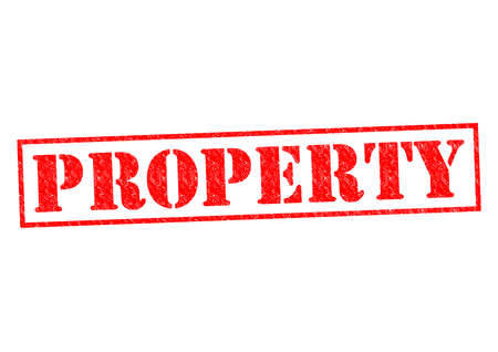 PROPERTY red Rubber Stamp over a white background. photo