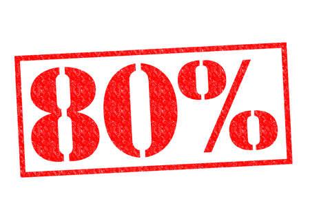 80% Rubber Stamp over a white background. Banco de Imagens - 31964129