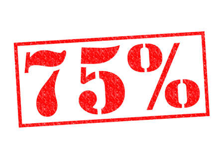 tax policy: 75% Rubber Stamp over a white background. Stock Photo