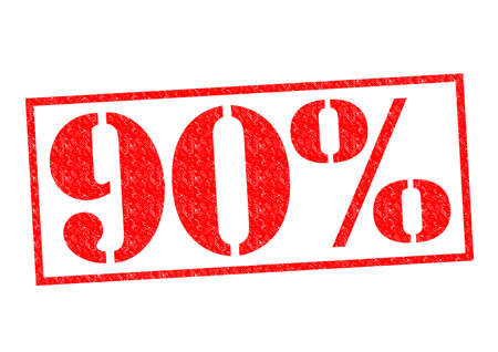 90% Rubber Stamp over a white background.