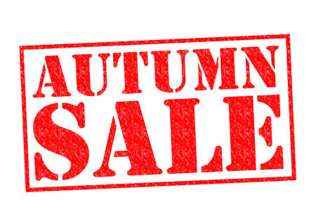 AUTUMN SALE red Rubber stamp over a white background. photo