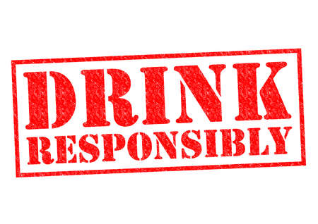 drink responsibly: DRINK RESPONSIBLY red Rubber stamp over a white background.