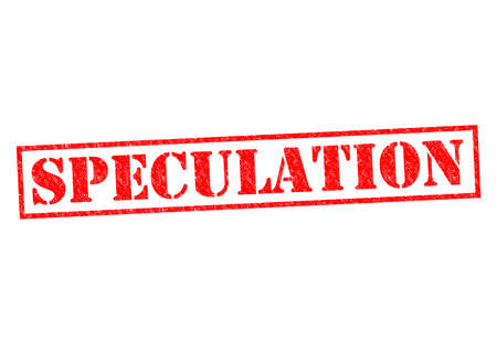 speculation: SPECULATION red Rubber Stamp over a white background.