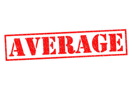 average: AVERAGE red Rubber Stamp over a white background.