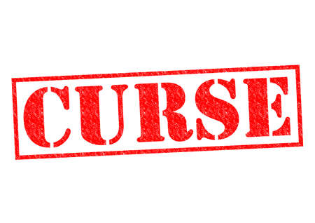 curse: CURSE red Rubber Stamp over a white background.