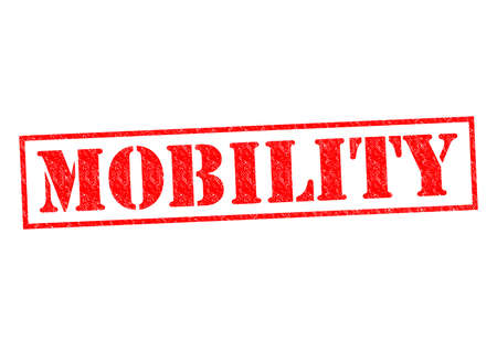 mobility: MOBILITY red Rubber Stamp over a white background.