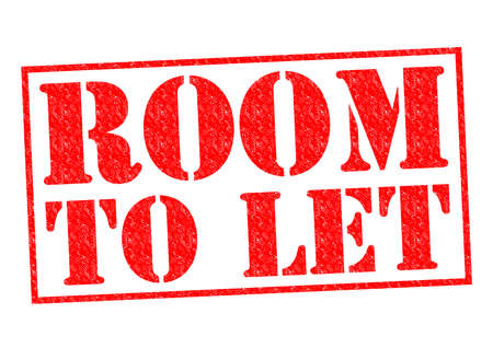 ROOM TO LET red Rubber Stamp over a white background. photo