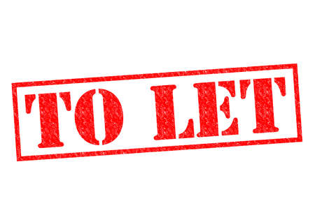 let out: TO LET red Rubber Stamp over a white background.