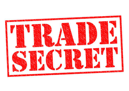 trade secret: TRADE SECRET red Rubber Stamp over a white background. Stock Photo