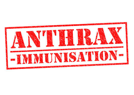 anthrax: ANTHRAX IMMUNISATION red Rubber Stamp over a white background.