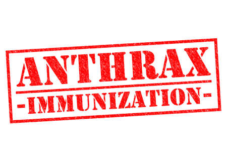 anthrax: ANTHRAX IMMUNIZATION red Rubber Stamp over a white background.