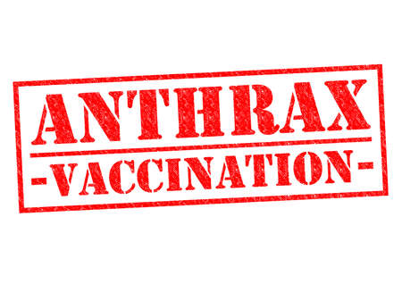 anthrax: ANTHRAX VACCINATION red Rubber Stamp over a white background.
