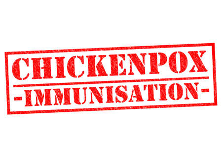 CHICKENPOX IMMUNISATION red Rubber Stamp over a white background. photo