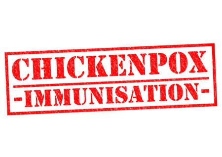 jab: CHICKENPOX IMMUNISATION red Rubber Stamp over a white background.