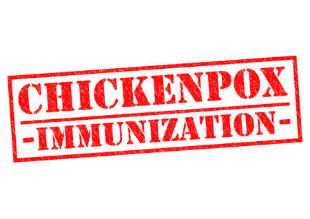 CHICKENPOX IMMUNIZATION red Rubber Stamp over a white background. photo