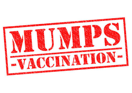 mumps: MUMPS VACCINATION red Rubber Stamp over a white background.
