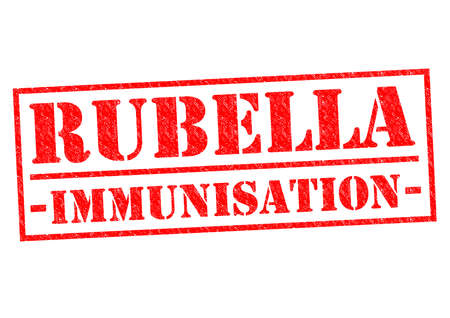 rubella: RUBELLA IMMUNISATION red Rubber Stamp over a white background.