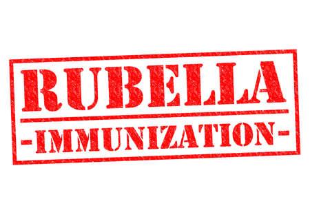 rubella: RUBELLA IMMUNIZATION red Rubber Stamp over a white background. Stock Photo