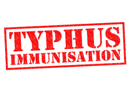 typhus: TYPHUS IMMUNISATION red Rubber Stamp over a white background.