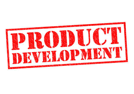 PRODUCT DEVELOPMENT red Rubber Stamp over a white background.