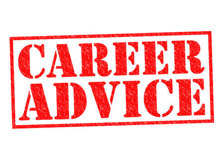 CAREER ADVICE red Rubber Stamp over a white background. photo
