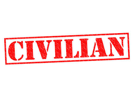 pacificist: CIVILIAN red Rubber Stamp over a white background. Stock Photo