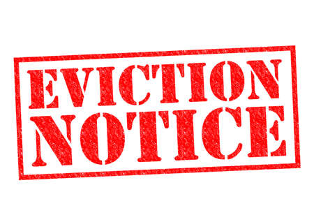 EVICTION NOTICE red Rubber Stamp over a white background.