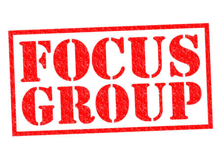 focus group: FOCUS GROUP red Rubber Stamp over a white background. Stock Photo