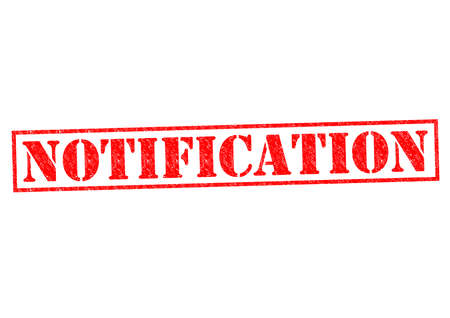 declare: NOTIFICATION red Rubber Stamp over a white background.