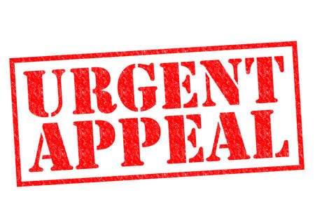 appeal: URGENT APPEAL red Rubber Stamp over a white background. Stock Photo
