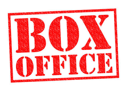 BOX OFFICE red Rubber Stamp over a white background. photo