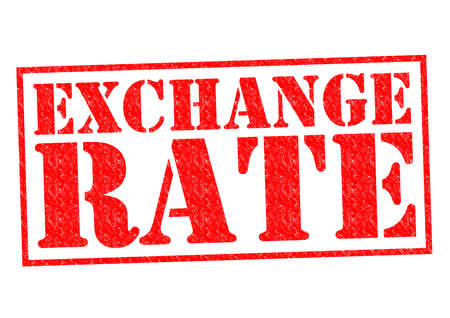 exchange rate: EXCHANGE RATE red Rubber Stamp over a white background.