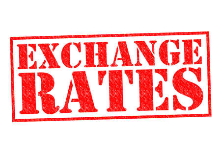 EXCHANGE RATES red Rubber Stamp over a white background. photo