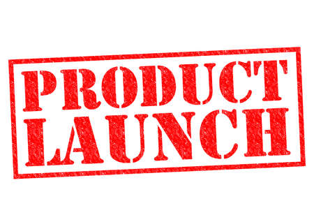 plugging: PRODUCT LAUNCH red Rubber Stamp over a white background. Stock Photo