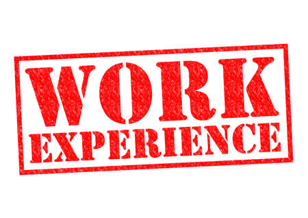 work experience: WORK EXPERIENCE red Rubber Stamp over a white background.