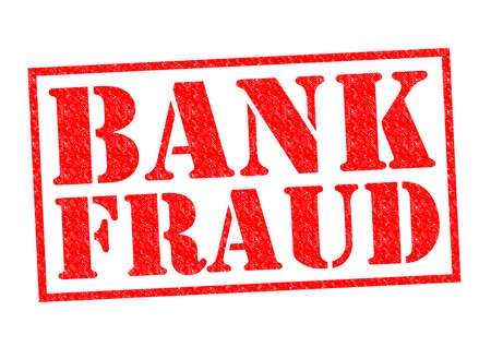 cheques: BANK FRAUD red Rubber Stamp over a white background.