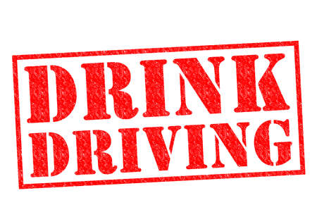 breaking law: DRINK DRIVING red Rubber Stamp over a white background. Stock Photo