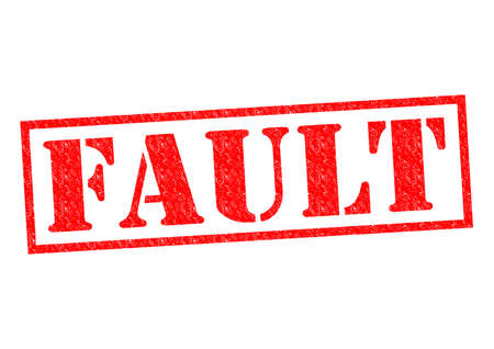 unprofessional: FAULT red Rubber Stamp over a white background.