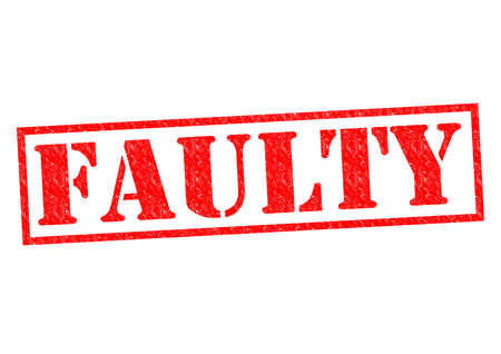 unprofessional: FAULTY red Rubber Stamp over a white background.