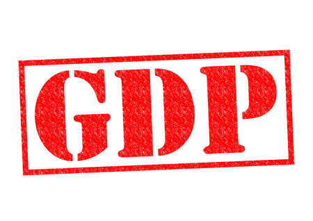 domestic policy: GDP Rubber Stamp over a white background.