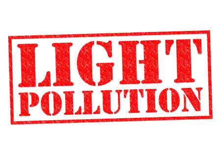 LIGHT POLLUTION red Rubber Stamp over a white background. photo