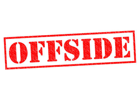 offside: OFFSIDE red Rubber Stamp over a white background.
